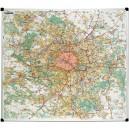 Carte de Paris et grande banlieue - carte murale magnétique
