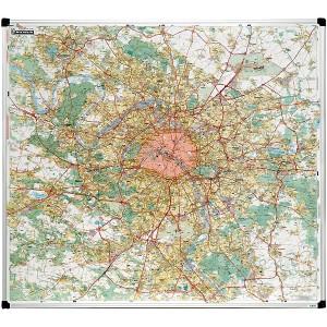 Carte de Paris grande banlieue  magnétique