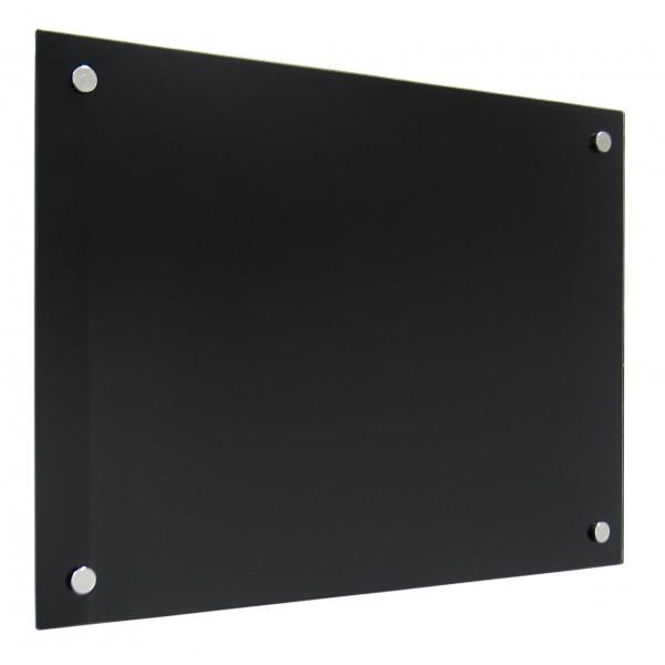 panneau verre noir 90x120 cm. Black Bedroom Furniture Sets. Home Design Ideas