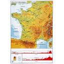 Carte géographique de France souple 70x102 cm
