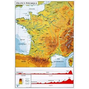Carte géographique de France