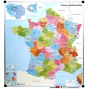 Carte de France administrative plastifiée 94x101 cm