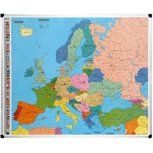 Carte de l'Europe magnétique