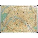 Plan de Paris magnétique 100 x 132cm