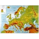 Carte de l'Europe physique et politique 100x140 cm