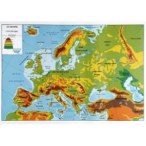 Europe physique et politique (2 faces)