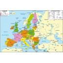 Carte de l'Europe des 27 102x70 cm