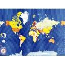Carte du monde politique souple Blay Foldex