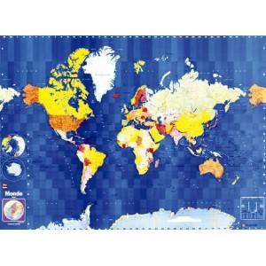 Carte du monde politique Blay Foldex