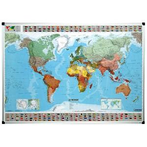 Carte du monde politique magnétique
