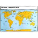 Océans et grands fleuves du monde 102x70 cm