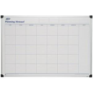 Planning mensuel perpétuel magnétique 90x60 cm