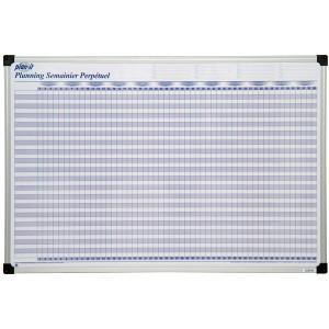 Planning semainier perpétuel magnétique 90x60 cm