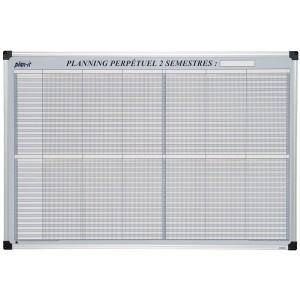 Planning 2 semestres perpétuel magnétique 90x60 cm