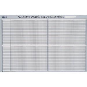 Planning 2 semestres perpétuel 90x60 cm
