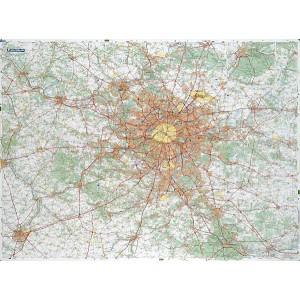 Carte de Paris  Île de France