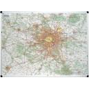 Carte de Paris et région Île de France - carte murale magnétique