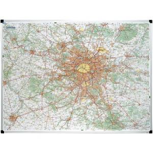 Carte de Paris Île de France  magnétique